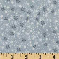 Comfy Flannel Stars Grey