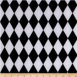 Stretch ITY Jersey Knit Abstract Geo Black and White