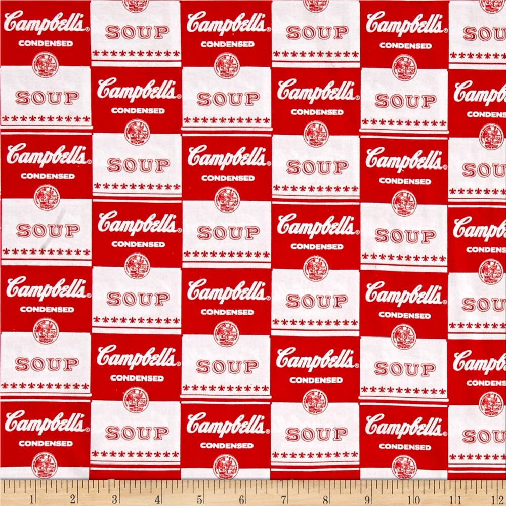 Campbells Soup Contemporary Soup Can Label Red