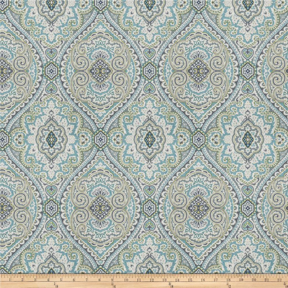 Fabricut Pocket Medallion Slub Breeze