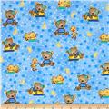 Comfy Flannel Baby Bears & Ducks Blue