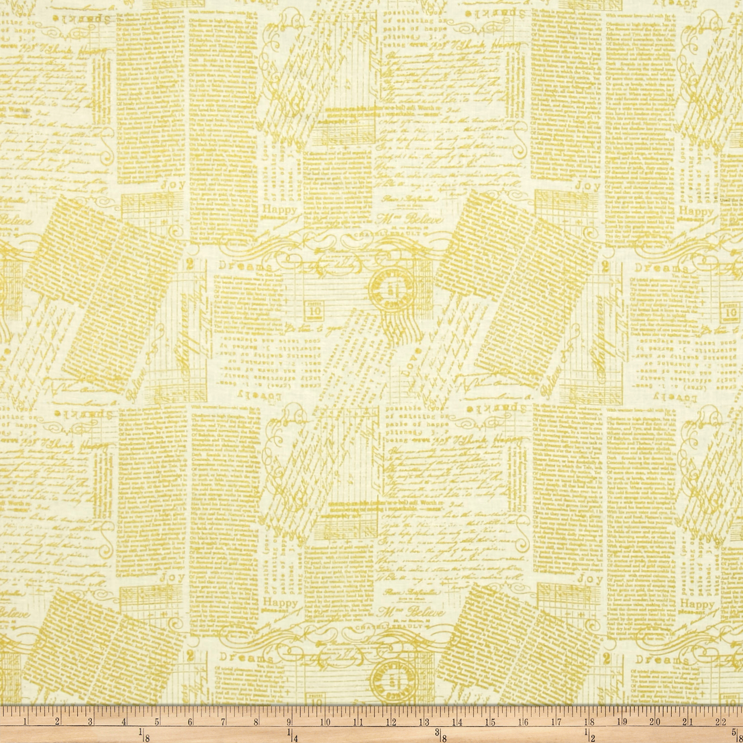 Image of ADORNit Girls Gold Chatter Fabric