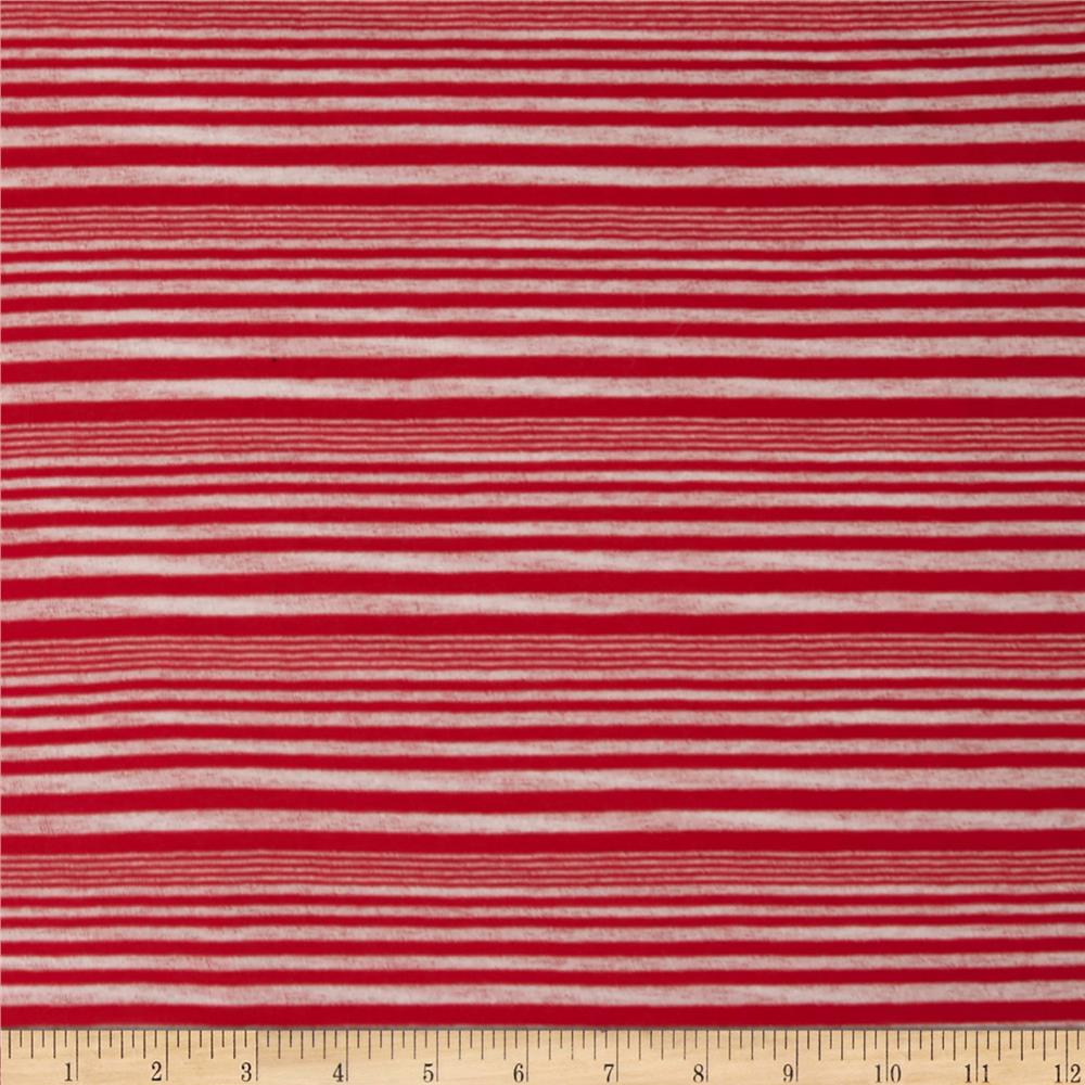 Onion Skin Striped Jersey Knit Red/White