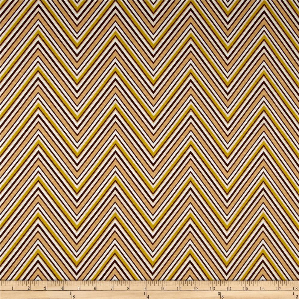 Ansley Home Decor Cotton Duck Chevron Brown