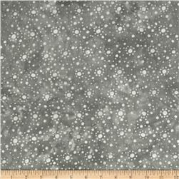 108'' Wide Essentials Quilt Backing Dot Burst Grey