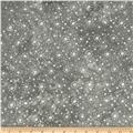 "108"" Wide Essentials Quilt Backing Dot Burst Grey"