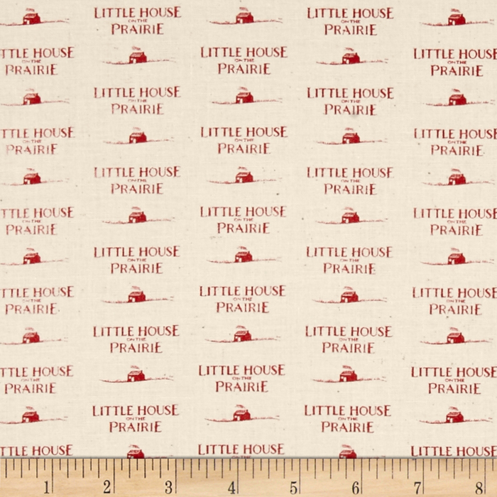 Little House On The Prairie Logo Red Fabric by Andover & Makower in USA