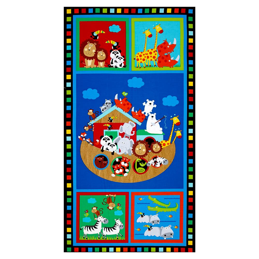 "Timeless Treasures Noah's Ark 24"" Panel Bright"