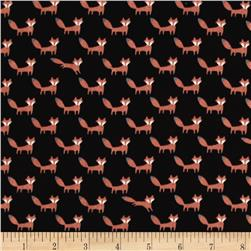 Seven Islands Double Gauze Foxes Black