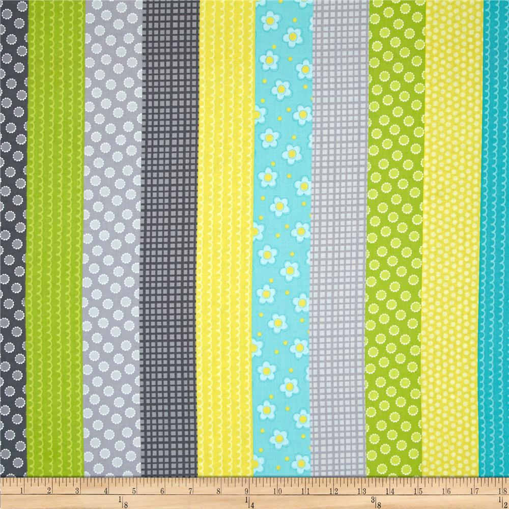 Whoo Loves You Stripe Gray/Multi
