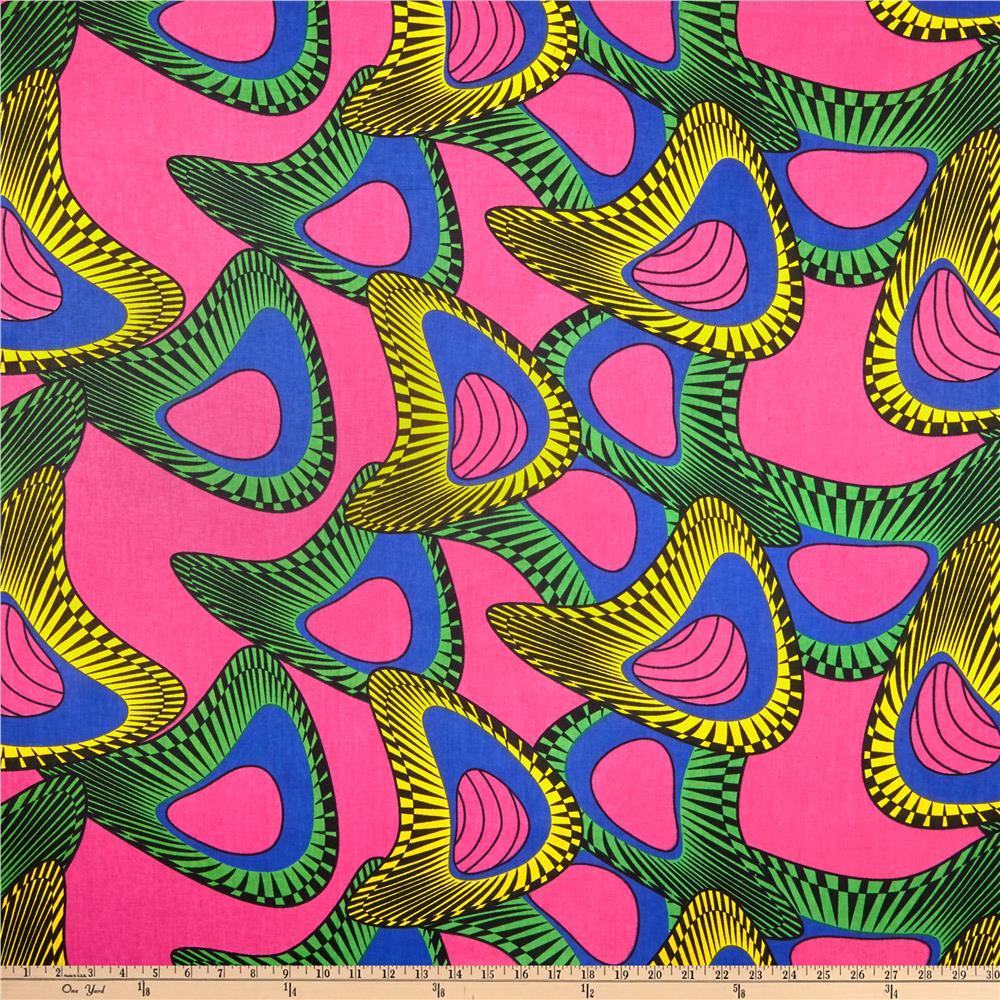 Shawn Pahwa African Print Mpendulo Pink Blue Discount