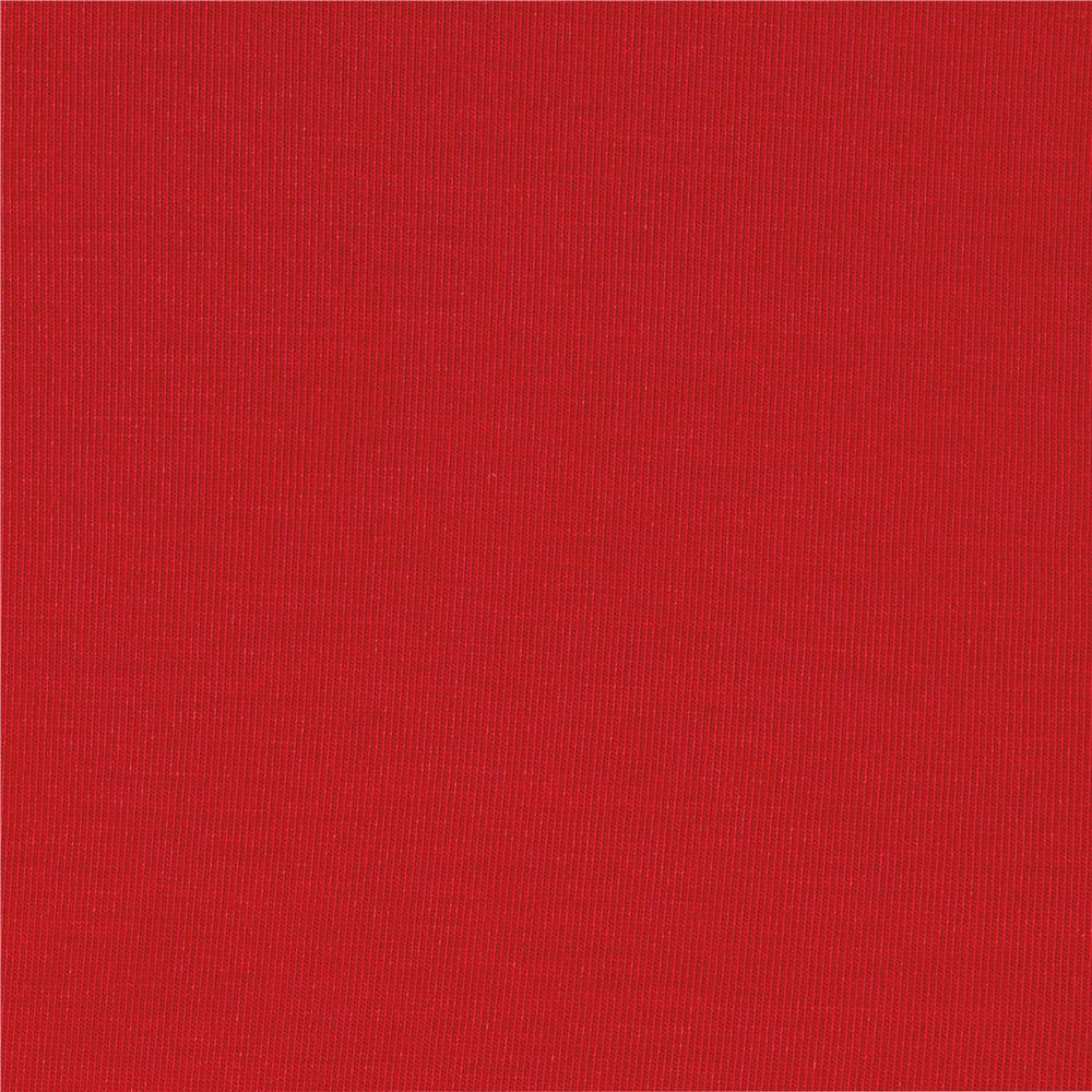 Rayon Jersey Knit Solid Red Fabric
