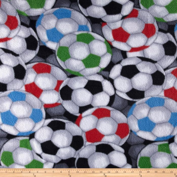Packed Soccer Balls Fleece Blue/Red