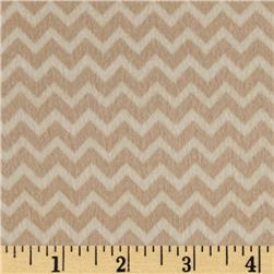 Riley Blake Camp a Lot Flannel Chevron Cream