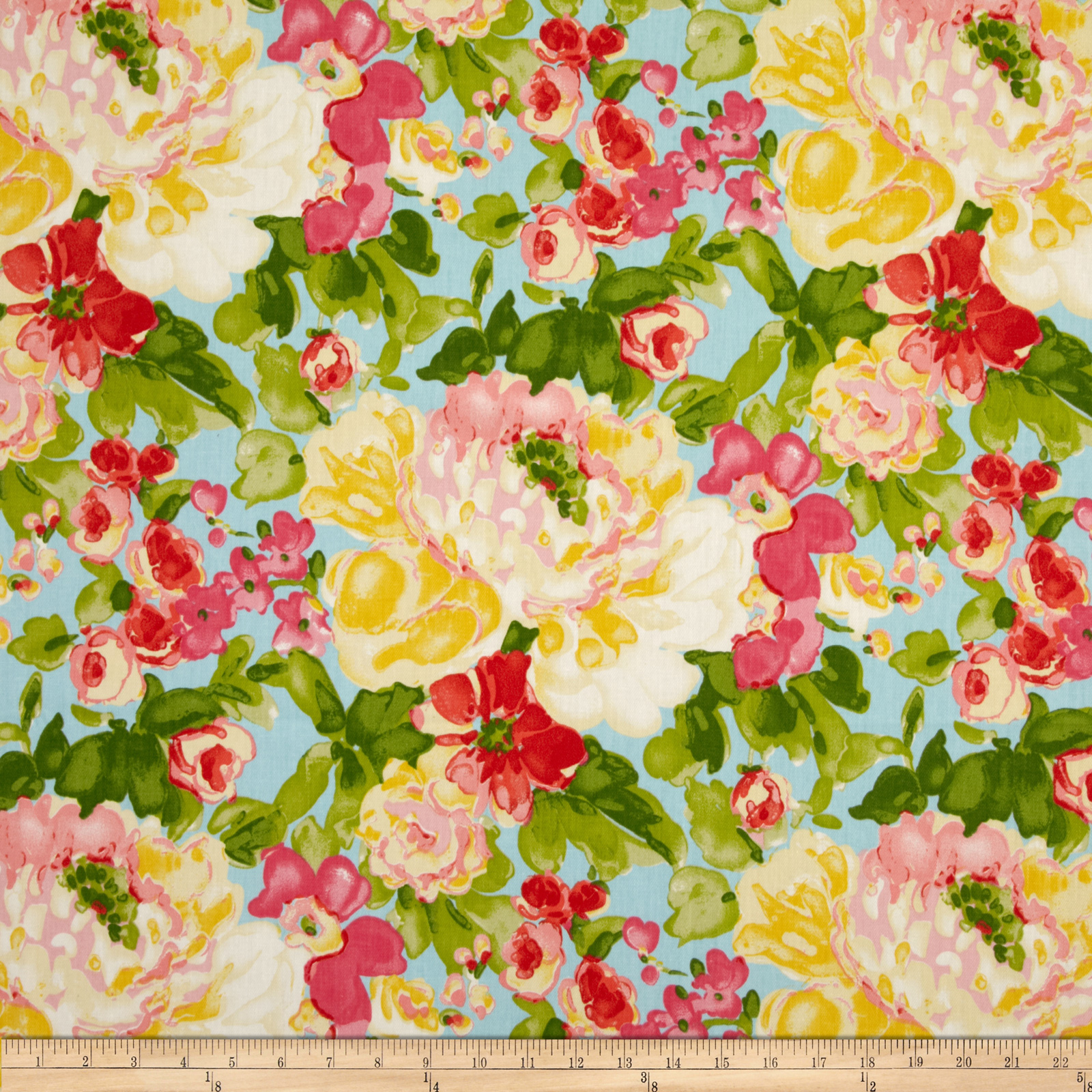 Waverly Blossom Boutique Twill Aurora Fabric
