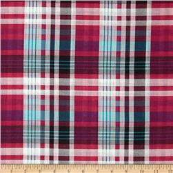 Cotton Plaid Lawn Plaid Pink/Black