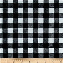 Gingham Rayon Challis Black/White