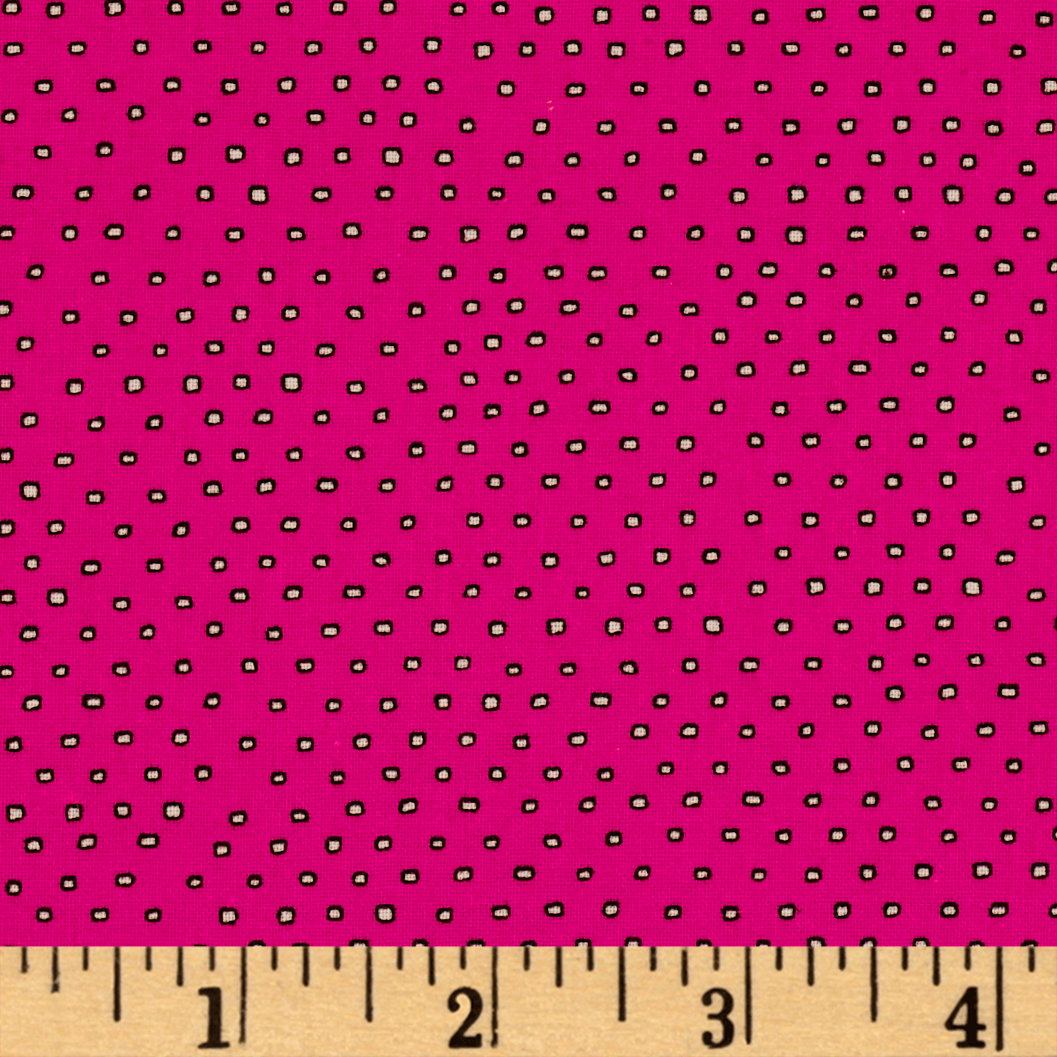 Image of Pixie Square Dot Hot Pink Fabric