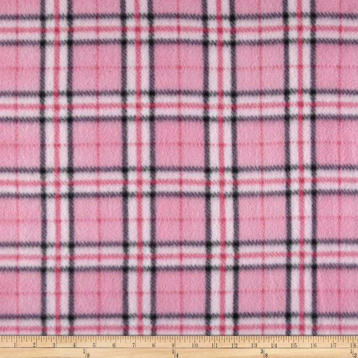 Fleece Plaid Pink/Black