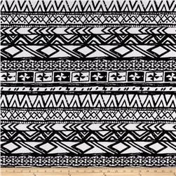 ITY Stretch Jersey Knit Ethnic Neutal White and Black