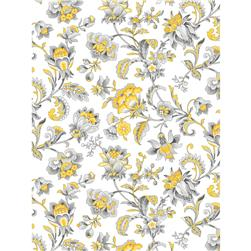 Grey Skies Large Floral Swirl White