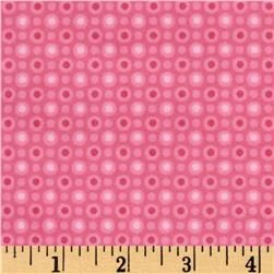 Cuddle Bugs Flannel Monotone Dot Pink
