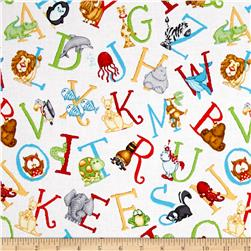 ABC-123 Tossed Letters White/Multi