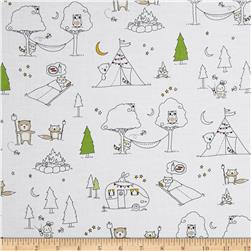 Ink & Arrow Camp S'more Animal Camp Scenic White