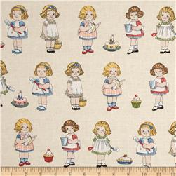 Penny Rose Paper Dolls Bakery Paper Dolls Background Cream