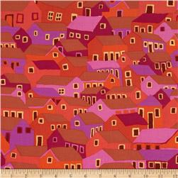 Kaffe Fassett Spring 2014 Collective Earth Shanty Town Red