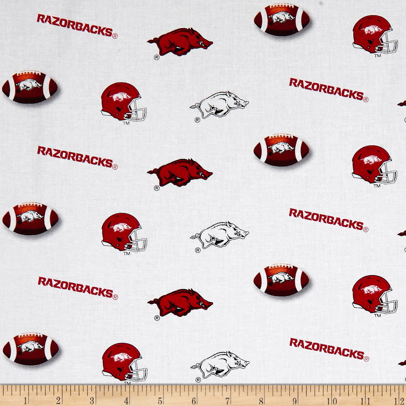 NCAA University Of Arkansas Razorbacks Fabric 0576843