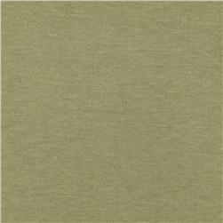 Basic Cotton Baby Rib Knit Solid Khaki Green