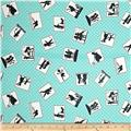 Kaufman Playing With Shadows Small Blocks Turquoise