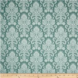 Riley Blake Postcards for Santa Damask Green