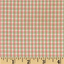 Cotton Yarn Dyed Shirting Mini Check Coral/Green