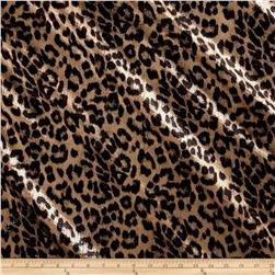 International Designer Stretch Sequined Animal Print Black/Bronze