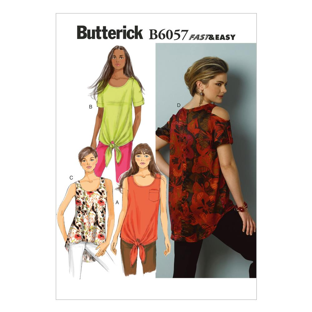Butterick Misses' Top and Tunic Pattern B6057 Size A50