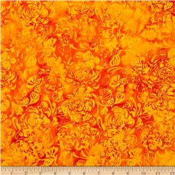 Island Batik Great Balls of Fire Orange Allover