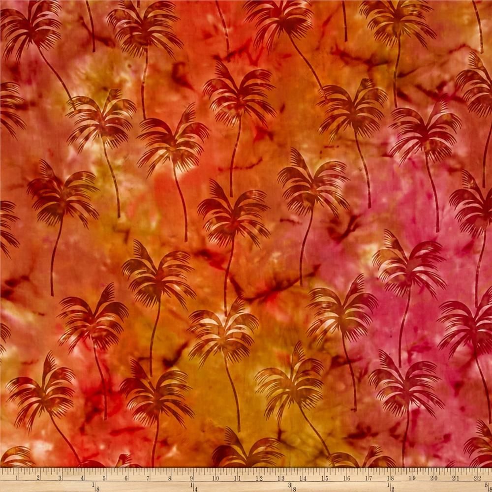 Indian Batik Sandy Hook Palm Tree  Orange