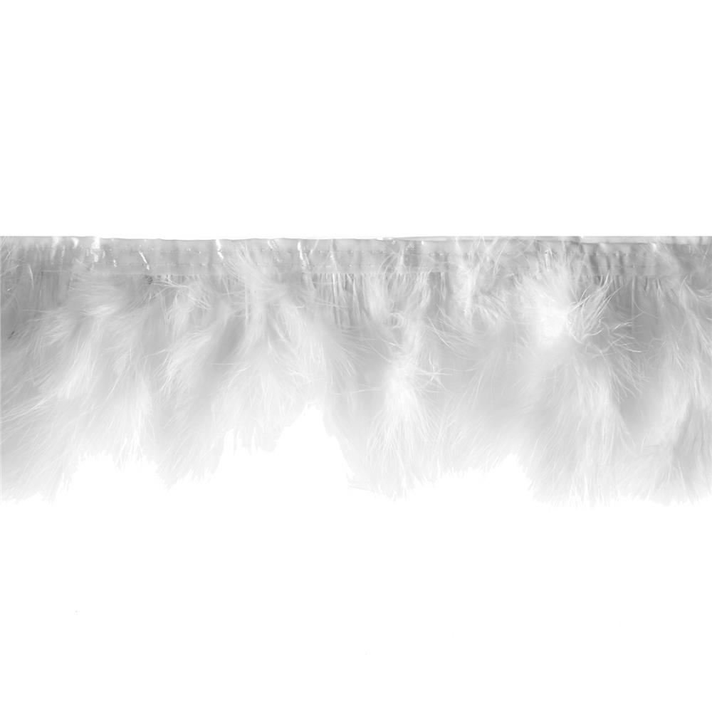 "8"" Feather Trim White"