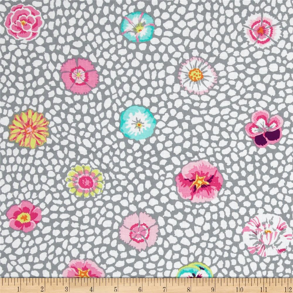 Kaffe Fassett Spring 2014 Collective Quarry Guinea Flower Grey