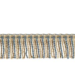 "Fabricut 2.5"" Porch Swing Bullion Fringe Cobalt"