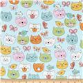 Comfy Flannel Cats Blue