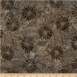 Moda Sun Drenched Batiks Flowers & Leaves Tan