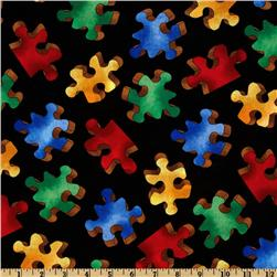 Chunky Puzzle Pieces Black