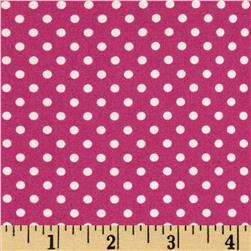 Moda Dottie Small Dots Magenta