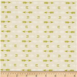 Happy Camper Arrows Cream Fabric