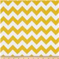 Riley Blake Flannel Basics Chevron Medium Yellow
