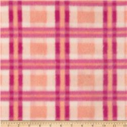 Printed Fleece Plaid Pink/Red
