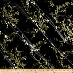 Chinese Brocade Floral Black Gold